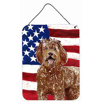 Patriotic USA Labradoodle Wall or Door Hanging Prints