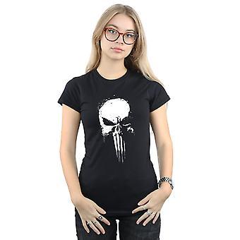 Förundras över kvinnors Punisher Spray skalle T-Shirt