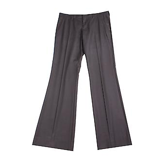 Miu Miu Women's Virgin Wool Trouser Pants Black