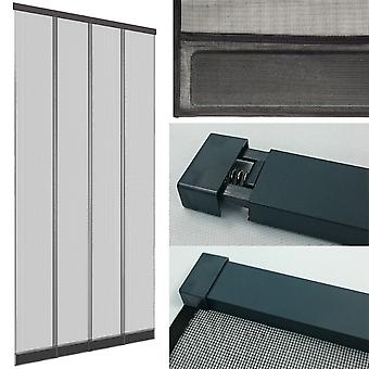 Fly screen insect protection KLEMM curtained 4 PCs. 100 x 220 cm profile: white / fin: anthracite