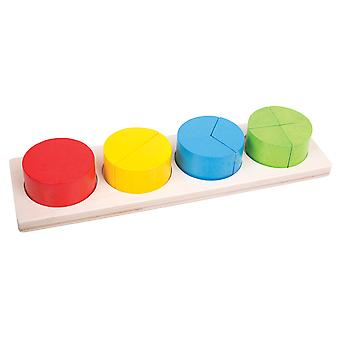 Bigjigs Toys Educational Wooden Circle Fraction Board