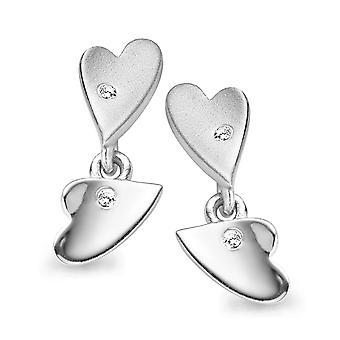 Orphelia Silber 925 Ohrringe Herz Zirkon ZO-5011