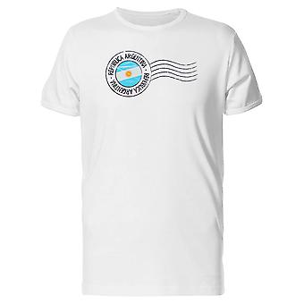 Republica Argentina Postal Flag Tee Men's -Image by Shutterstock