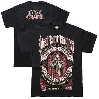 West Coast choppers mens T-Shirt the chapel black