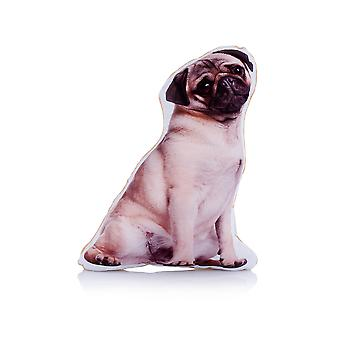 Adorable Pug Shaped Midi Cushion