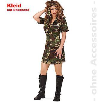 Soldier army ladies army dress ladies costume camouflage costume