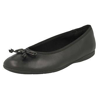 Girls Clarks Slip On Bow School Shoes Jesse Shine