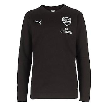 2018-2019 arsenal Puma Performance Casual Sweat Top (noir)