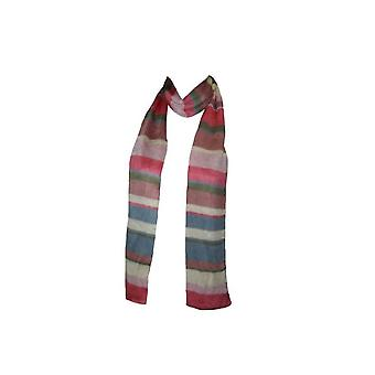 Ladies Fashionable Stripe Scarf Gl011 Perfect For Any Present Pale Pink + Cream