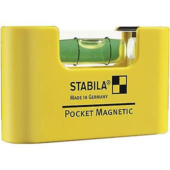 Stabila POCKET MAGNETIC 17774 Mini spirit level 7 cm 1 mm/m Calibrated to: Manufacturer's standards (no certificate)