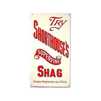 Shorthouse'S Superfine Shag Enamelled Wall Sign