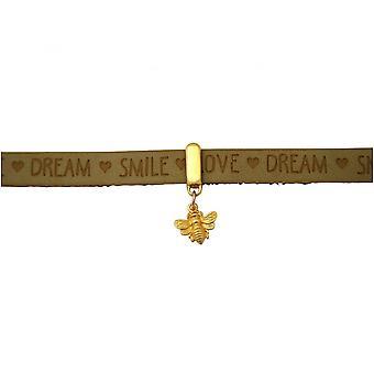 -Chapado en oro plata 925 - oro - pulsera - BEE - bee marrón Arena - cerradura magnética - DESEOS-