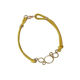 Circles Bracelet yellow bronze gold plated bangles