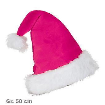 サンタ帽子ぬいぐるみ帽子ピンク クリスマス