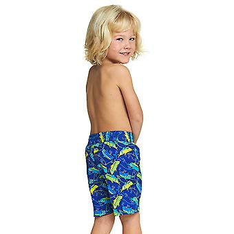 Zoggs Junior Boy's Swimming Shorts Blue/Green for 1-6 Years Children