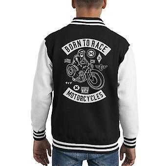 Né à Varsity Jacket course motos enfant