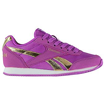 Reebok Girls Classic Jogger RS Kids Trainers Shoes Lace Up Ortholite Textile