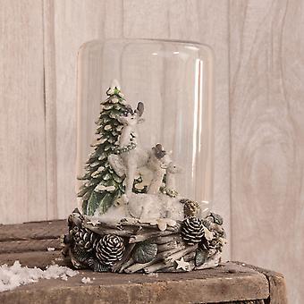 Woodland Reindeer Snow Dome