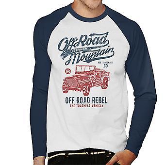 Vintage av veien Mountain Jeep Menns Baseball lange ermer t-skjorte