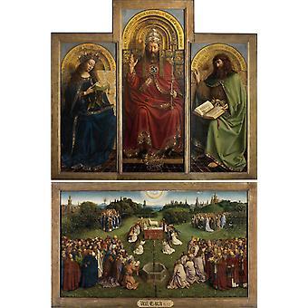 Gentse altaarstuk, Jan Van Eyck, 40x60cm met lade