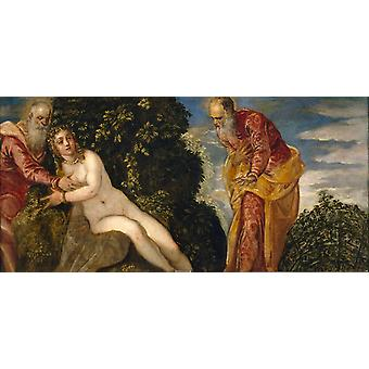 Susanna and the Elders, Jacopo Robusti Tintoretto, 80x40cm