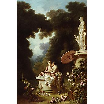Love Letters, Jean-Honore Fragonard, 40x60cm with tray