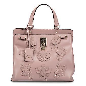 Valentino Medium Joylock Top Handle Bag in Pink