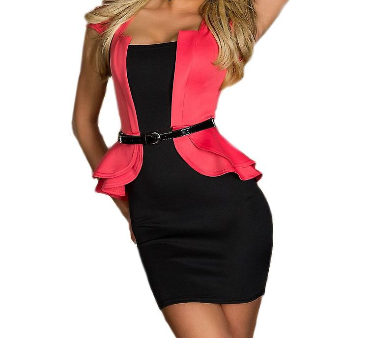 Waooh - Mode - Mini Robe Moulante Peplum
