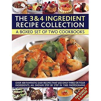 Cooking with Just 3 & 4 Ingredients - a Box Set of Two Cookbooks  - Ove
