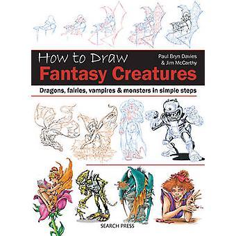 Cómo dibujar - fantasía criaturas - dragones - hadas - vampiros y Mons