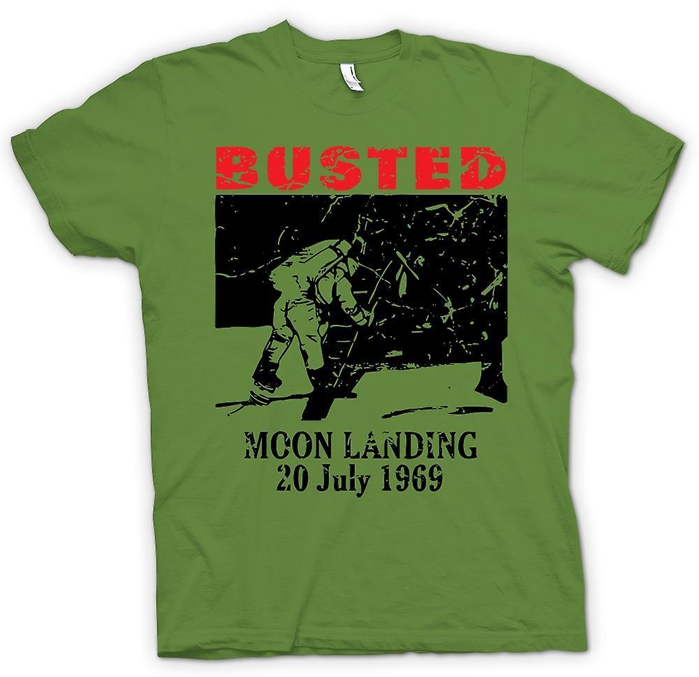Mens t-shirt - Hoax di atterraggio della luna 1969 - cospirazione
