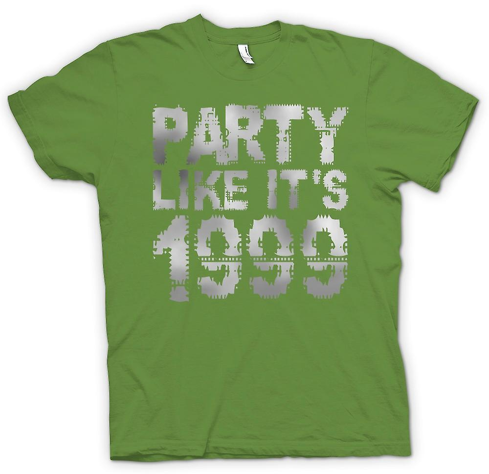 Mens t-skjorte - Party som sin 1999 - kule