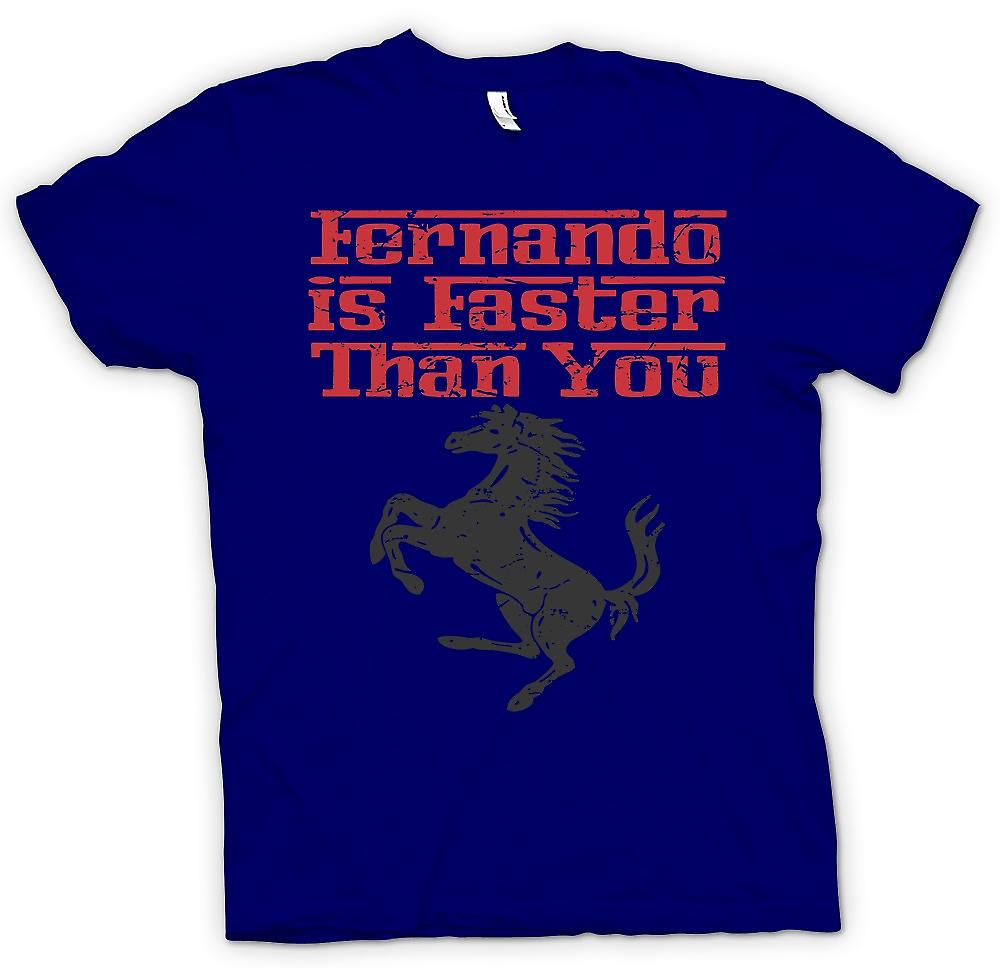 Mens T-shirt - Ferrari - Fernando Is Faster Than You