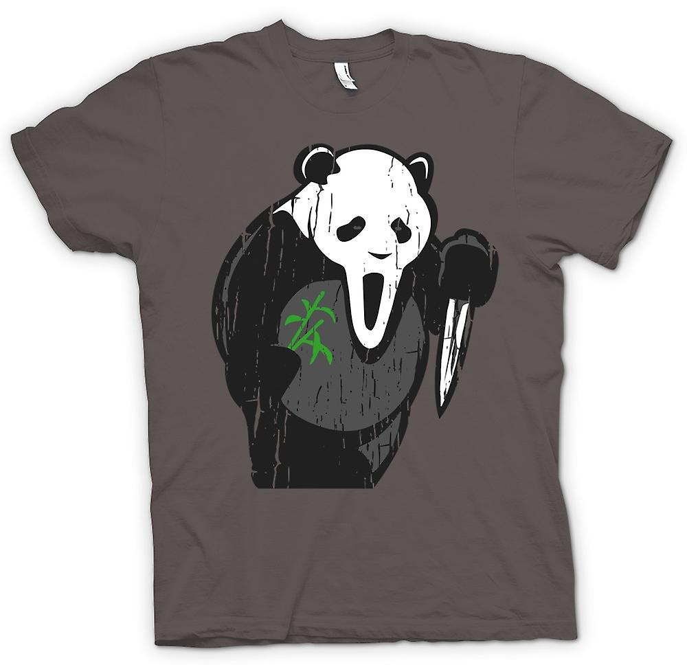 Womens T-shirt - Panda Schrei Face - witzige Horror