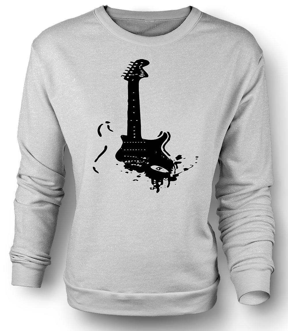 Mens Sweatshirt Fender Strat - Pop Art - Guitar Music