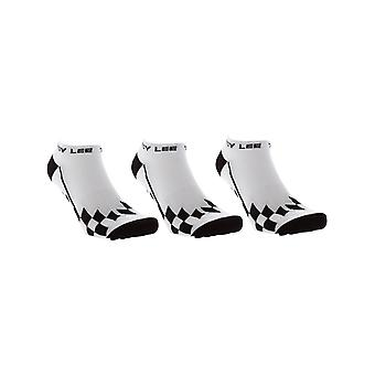 Troy Lee Designs Checker White Low Cut Pack of 3 Ankle Socks