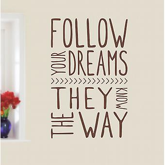 Dreams Wall Art Sticker