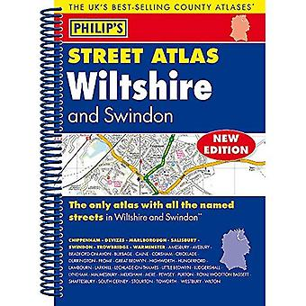 Philip's Street Atlas Wiltshire and Swindon: Spiral Edition (Philip's Street Atlases)