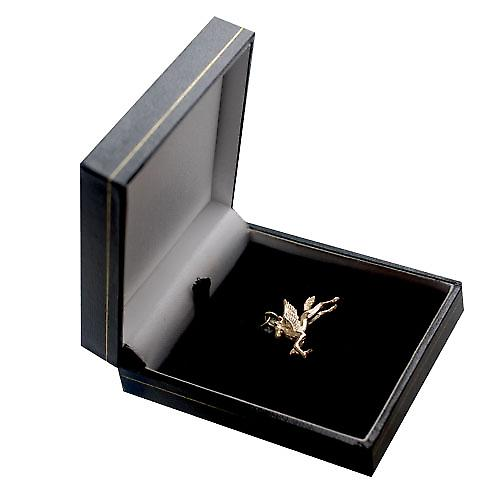 9ct Gold 29x27mm solid Pegasus in flight charm