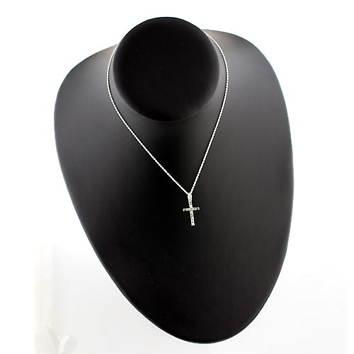 Silver 20x12mm hand engraved solid block Cross with a rolo Chain 14 inches Only Suitable for Children