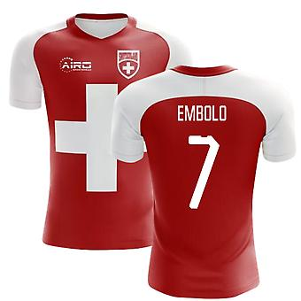 8628a6c1697 2018-2019 Switzerland Flag Concept Football Shirt (Embolo 7)
