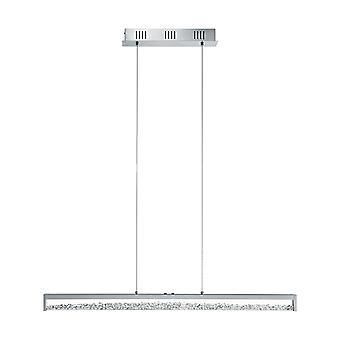 Eglo - Cardito 1 LED 6 leve toque operado pingente de barra de cromo polido com EG93626 de cristais de vidro