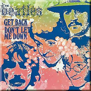 Beatles Get Back / Don't Let Me Down (pastel) fridge magnet