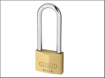 ABUS 65/40HB63 40mm Brass Padlock 60mm Long Shackle Carded