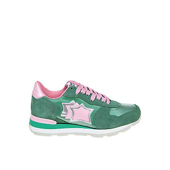 Atlantic Stars Green Fabric Sneakers