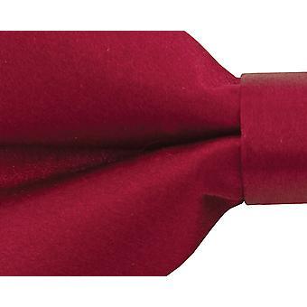 Dobell Mens Burgund Fliege 100 % Seide (Pre-gebundene & binden)