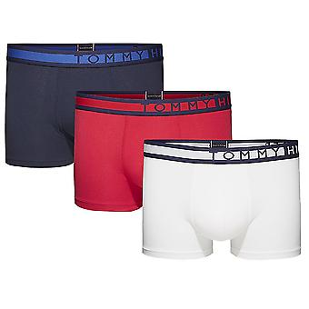 Tommy Hilfiger 3-Pack Trunk, Navy Blazer / White / Tango Red, X-Large