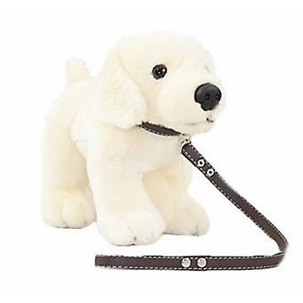 Deluxe Standing Dog 30cm With Lead - Labrador