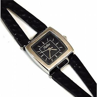 Reflex Black Square Dial Black Split Strap Ladies Fashion Watch 1014053L