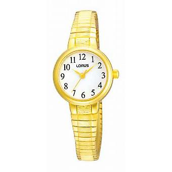 Lorus Ladies' White Dial Gold Tone Expander RRS34TX9 Watch